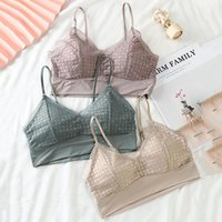 Camisoles & Tanks Women's Underwear Sexy Lace Tube Tops Bra Lingerie Bralette Padded Tank Top Sling Vest Push Up Bras Intimates