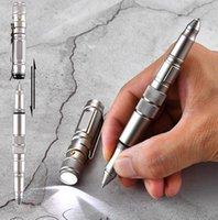 Тактическая ручка с ножом самообороны светодиодные фонарики фонари окна выживание выживания мульти-инструмент для повседневной прокладки (EDC) Открытый кемпинг походы на путешествие по спасению