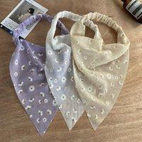Dreieck Bandanas Haarband Floral Print Scruzies Schal Stirnband Elastische Haarbänder Turban Headwrap Frauen Zubehör HWC7068