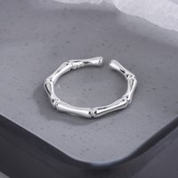 Simple Style Bamboo Joint Open Ring Silver Gold Women Cute Finger Rings for Gift Party Fashion Jewelry Accessories
