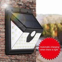 Light Wall Mount Waterproof Metal Smart Sensor Outdoor Solar Lamp Powered Sunlight Street Garden Decoration Lawn Lamps