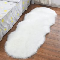 Living Room Plush Floor Rugs Mats Kids Room Faux Fur Area Rug Carpet Solid Fluffy Soft Shaggy Carpet Artificial Sheepskin Hairy