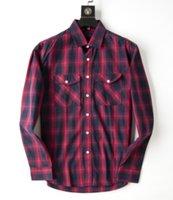Mens Shirt Designer High quality Long Sleeve Slim Fit Cotton Business Top Autumn winter Plaid Classic Men s Suit Asian size M-3XL FJ58