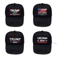 Летние американские президентские выборы женщин мужские черные шарики шапки козырь 2024 буквы напечатаны на открытом воздухе повседневные спортивные козырьки солнца шляпы OWA46
