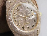 3スタイルメンズウォッチフル舗種ダイヤモンドベゼルラインストーンブレスレット自動2824 Etaウォッチメンズ古代アラビア数字金色ゴールドクリスタル40mm腕時計