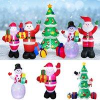 زينة عيد الميلاد سانتا كلوز الصمام مضيئة شجرة عيد الميلاد نفخ المنزل حديقة ثلج نموذج عيد الميلاد الحلي W-01149