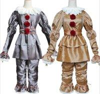 Clown Retour à l'âme Costume Cosplay Cosplay Halloween Pennywise Enfants pour enfants adultes