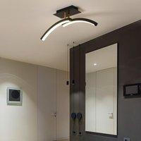 Ceiling Lights Black Gold Modern LED For Bedroom Bedside Aisle Corridor Balcony Entrance Lamp Home Lighting