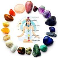 Natürliche Kristall Stein Party Favor Chakra Steine Palm Reiki Heilung Yoga Energy Edelsteine DIY Geschenk 7pcs / set HWB8956
