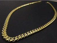 Mens 18K Gold Tone TONE 316L Нержавеющая сталь Cuban Link Change Ожерелье CURB CUBAN Link Change с Diamonds Clasp Lock 8 мм / 10 мм / 12 мм / 1
