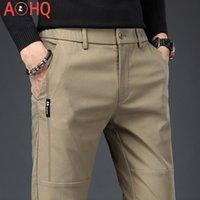 Мужские брюки формальные Мужские платья брюки одежда Корея стиль тонкий эластичный талия мужской костюм Office Classic 2021 лето