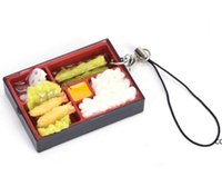 لطيف محاكاة السوشي مفتاح سلسلة كيرينغ وهمية اليابانية الغذاء مربع الحبل المفاتيح حقيبة يد قلادة الحبل مفتاح حلقة مضحك لعب DHF11148