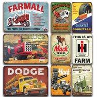 Farmall Truck Affiche Signe Vintage Farm Trucks Metal Signs Art Sticker Art Sticker Tin Plaque Signe Retro Farmhouse Shop Plaque de métal