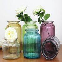 المزهريات الأزياء البساطة زهرية وجيزة منضدية الزجاج المائية متعددة الألوان شفافة مجففة الزهور أثاث المنزل الديكور