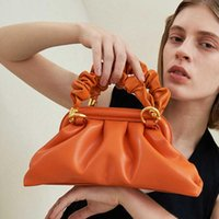 Shoulder Bags Vintage Dumpling Handbag Brand Women Bag Leather Small Hand Mini Clutch Purses Top Handle Crossbody French