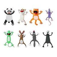 Lesezeichen 8 stücke Animal Lesezeichen 3D Stereo Cartoon Schöne Neuheit Lustige Studenten Schreibwaren Geschenk für Kinder (H)