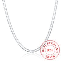 Designer Necklace 6MM 16inch-24inch Curb Chain s Silver Jewelry Men 925 Sterling Colar Accessories