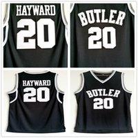 NCAA Butler Bulldogs Gordon # 20 Hayward Jersey Black Stitched Gordon Hayward University 대학 농구 유니폼 셔츠 S-XXL