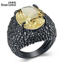DreamCarnival 1989 Big Black Lizard CZ Rings for Women Cool Dazzling Engagement Jewelry Fine Cut Zircon Fashion 2020 WA11870