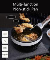 multifunction electric skillet heating pan multicooker pot noodles soup rice cooker egg steamer omelette frying machine