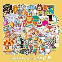 50 Circus Graffiti Stickers Cartoon Children's Amusement Park Decorative Skateboard Water Cup Luggage Compartment D6YD