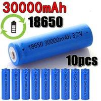 30000 mAh 3.7 V Li-Ion Pil 18650 LED El Feneri Elektronik Gadget Kabin Için Şarj Edilebilir Pil Işık Dropshipping