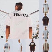 2020 남자의 티셔츠 가을 겨울 상자 사진 대형 티 남성 여성 고품질 로고 코튼 티셔츠 T56