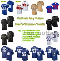 2021 Giants American Football Trikots Ryan Anderson Jersey Alex Bachman Saquon Barkley Jackson Barton Sam Beal CJ Board Devontae Booker Custom genäht