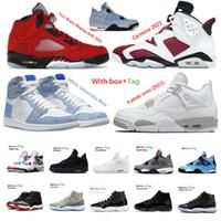 11s 11 25th Yıldönümü 5 Alternatif 4 4 S Basketbol Ayakkabı 11s Concord Bred Uzay Reçeli Sneaker Trainer Kutusu ile