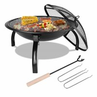 22 '' BBQ Barbecue Grill Fire Pit Heater Opvouwbare Patio FirePit Brazier Outdoor