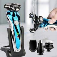 2021NEW Elektrikli Tıraş Makinesi Yıkanabilir Şarj Edilebilir Elektrikli Razor Tıraş Makinesi Erkekler için Sakal Giyotin Islak Kuru Çift Kullanım Faaliyet Direkt