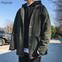 Men's Jackets Men Denim Washed Classic Basic Males Korean Style Fashionable Comfortable Single Breasted Turn-down Collar With Pockets