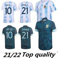 Argentina 2021 2022 Casa longe de Futebol Jersey 20 21 22 2021-22 MESSI DYBALA Crianças kits camisas do futebol AGUERO ICARDI MASCHERANO camiseta de futbol set