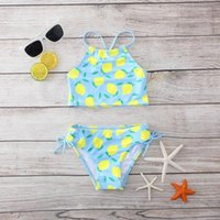 One-Pieces Girls Swimwear Two Pieces Swimsuit High Quality Kids Bikini Sets Falbala Children Beach Wear 2-piece Outfits #G4
