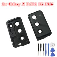 1Pcs Original Rear Back Camera Frame Cover Ring Glass Lens Replacement For Samsung Galaxy Z Fold 2 5G F916 F9160 W21 Black Gold