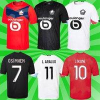 Kits adultos Kids Losc Lille Soccer Jersey 2021 Yazici Çelik Bamba Botman 20 21 Olympique Jikone Rsanches Maillot de Football Shirt