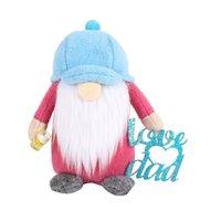 아버지의 날 모자 루돌프 플러시 얼굴이없는 인형 파티 선물 장식 만화 사랑 당신을 사랑해 Dwarf 그놈 파티 장식 GG42EV0G