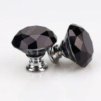 Knopfschraube Mode 30mm Diamant Kristall Glastürknöpfe Schublade Schrank Möbel Griff Knopf Schraube Möbel Zubehör MEER VERSCHIFFEN DAR316