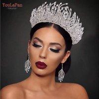 YouLapan HP374 Свадьба Tiara Crystal Headband Bridal Crown Цветочные повязки Аксессуары для волос Набор Ювелирных Клипов Барьерки