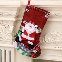 Boże Narodzenie Skarpety Boże Narodzenie Skarpety Duże pończochy Postać Santa Snowman Reindeer Snowflake Choinka Ogrodzenie Cute Candy FWF10003