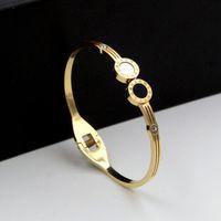 Armband zwart / wit shell voor vrouwen paar sieraden kristal romeinse cijfers armband armbanden liefde manchet B021