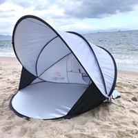 Палатки и укрытия Наружная палатка портативный складной высокопроизводительный пляж, автоматический весенний открытый солнцезащитный крем дождь дождь бытовые простые дети