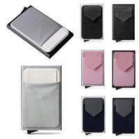 Card Holders Anti-Scan RFID Aluminum Metal Holder Slim Blocking Wallet Case Business Protection Men Purse