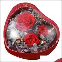 هدية الحدث إمدادات حزب الاحتفال المنزل جاردنغافت التفاف على شكل قلب زهرة مربع الإبداعية بهلوان مجوهرات عيد الحب DILI