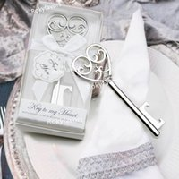 50PCS Victorian Key to My Heart Bottle Opener Party Favors Bridal Shower Guest Return Gifts Event Keepsake Birthday Supplies Wedding Favours