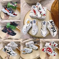 Düz Rahat Ayakkabılar Karikatürler Ayakkabı Sneaker Eğitmenler Yüksek Kalite Moda AB: 35-45 Erkek Kadın Için Kadın Için Box ile ayakkabı02 01