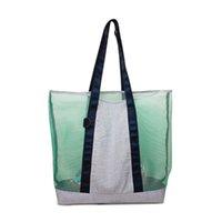 Navy Pink Stuff Bag Seersucker Mesh Collecting Packs Gift Kis Beach Purse DOM1061861