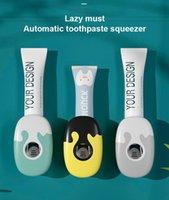 Держатели зубных щеток Автоматическая зубная паста сдавливание артефакт бытовой настенной стойки настенный набор свободный удар Squeezer