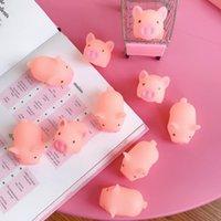 Cute Cartton Pink Pig Soft Beads Hand Fidget Toy Kids Gift Children's Pressure Release Antistress Squeeze Decompression ZZ10142 100pcs