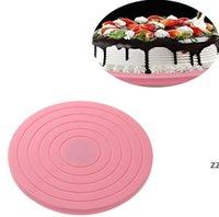 البلاستيك كعكة الدوار الدورية جولة أدوات تزيين الكعكة الجدول لوحة المطبخ diy أدوات الخبز أدوات كعكة HWE7356